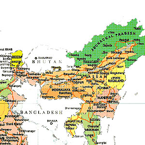 Indian Maps North East India Tourists Maps Indian Maps Guide